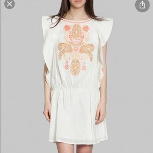Antik Batik Women's 40 Janie T-Shirt Dress Ecru